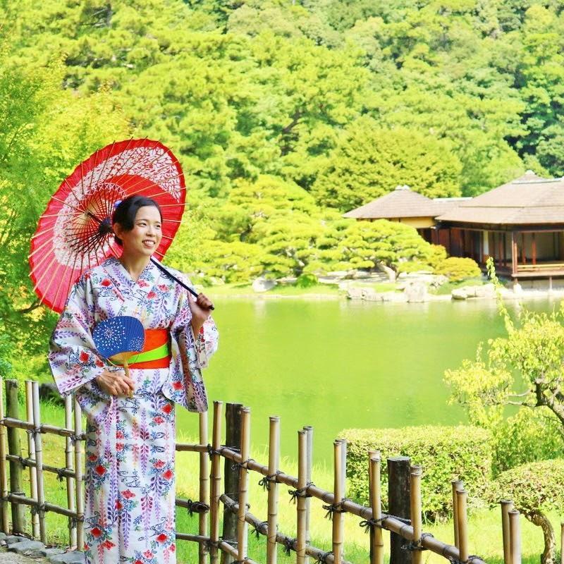 Kimono-wearing Tour at Ritsurin Garden -1